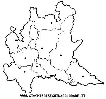 Cartina Muta Lombardia Da Stampare.Carta Politica Lombardia Da Colorare Colorare Gratis