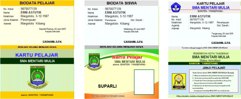 Contoh Id Card Untuk Osis - Contoh Waouw