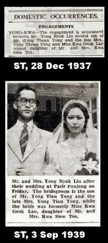 Mr and Mrs Yong Nyuk Lin