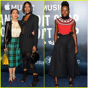 Salma Hayek, Naomi Campbell, & Lupita Nyong'o Attend the 'Can't Stop, Won't Stop' Premiere