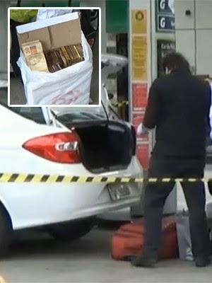 Homem é morto em posto de SP e deixa sacos de dinheiro em carro (Reprodução/TV Globo)