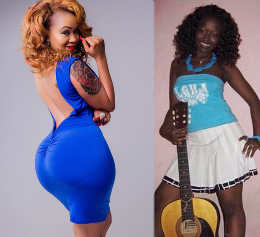 Image result for before and after photo of socialite Vera Sidika
