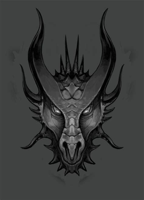 dragons head sketch   lawrencemann  deviantart
