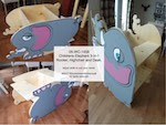 Childrens Elephant 3-in-1 Rocker, Highchair & Desk Woodworking Pattern - fee plans from WoodworkersWorkshop® Online Store - children\