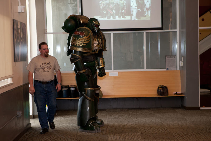 Space Marine Sergeant at Young Makers Presentation