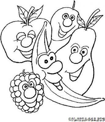 Coloriages Fruits Et Légumes Rigolos Page 1 Fruits Et Légumes Rigolos