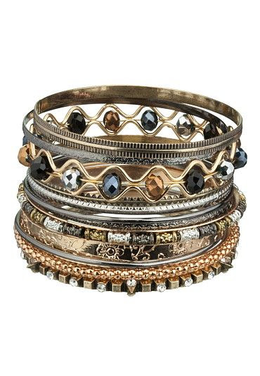 Wavy Combo Bangle Bracelet Set available at #Maurices