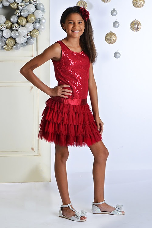 biscotti girls red party dress