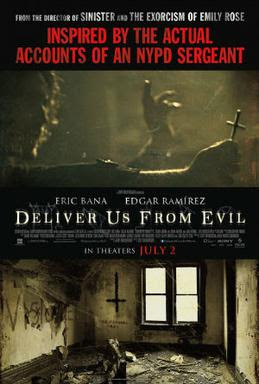 """Deliver Us from Evil (2014 film) poster"" distributed by Screen Gems"