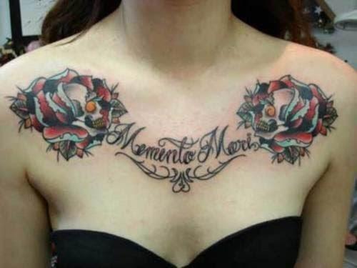 36 Tatuajes En El Pecho O Pectoral Para Mujeres