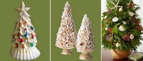 conchiglie per decorare l'albero di natale,conchiglie per decorare,conchiglie,fare l'albero di natale con le conchiglie,fai da te,hobby,