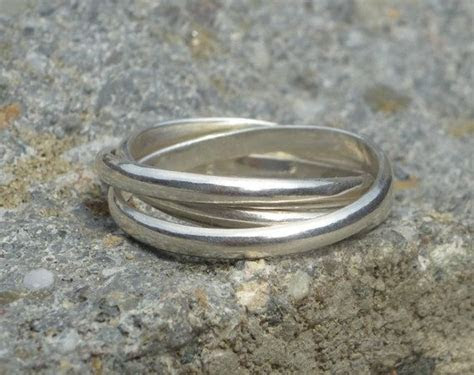 Sterling silver russian wedding ring, cartier infinity
