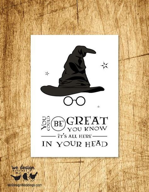 Printable   Harry Potter Sorting Hat Birthday Card. DIY