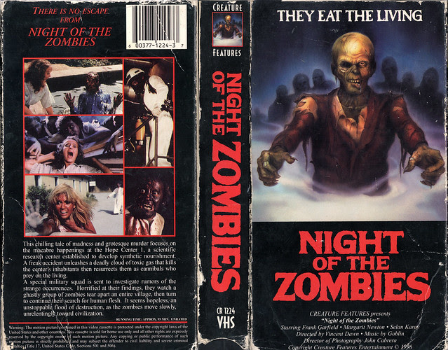NIGHT OF THE ZOMBIES (VHS Box Art)