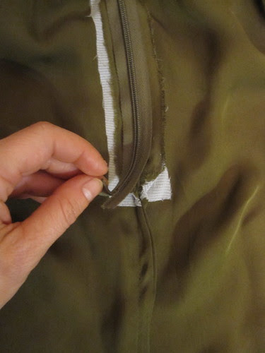 Zipper with French Seam