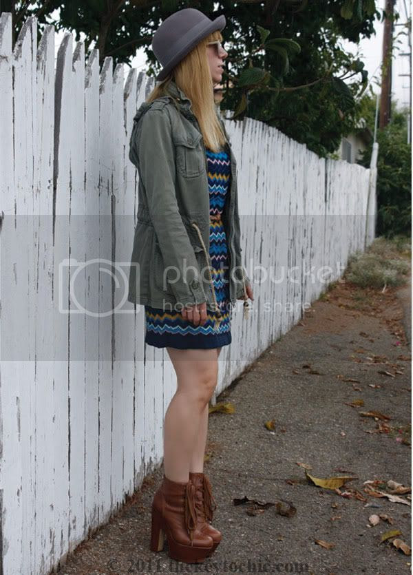 Missoni for Target blue zig zag sweater dress, Steve Madden Collosul boots, California fashion blog