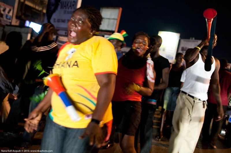 Ghana vs USA celebrations