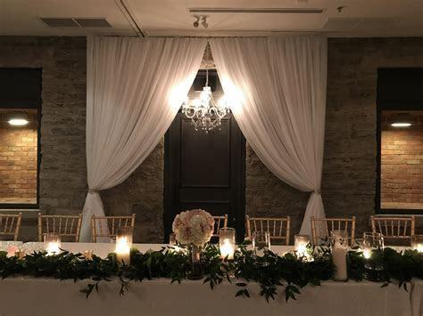 Wedding Decor   Head Table, Backdrop at Stone Mill Inn