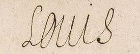 signature de Louis XIII