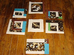 crane improv quilt blocks