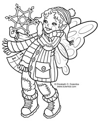 dulemba: Coloring Page Tuesdays Winter Fairy