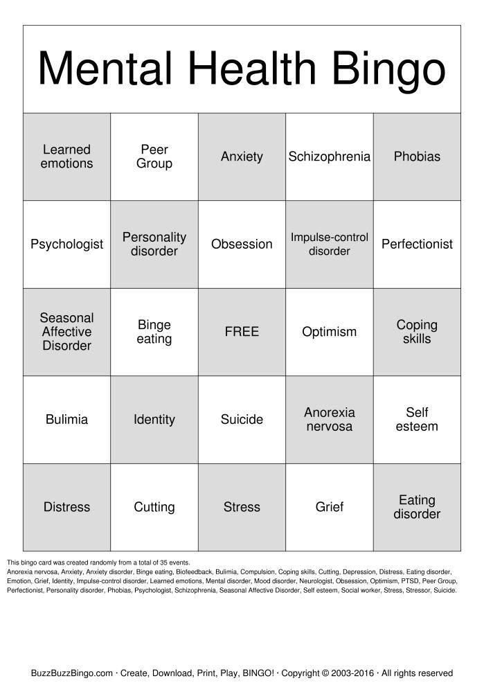 15 Best Images of Free Mental Health Worksheets Printable ...