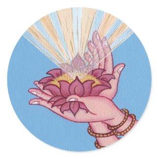 STICKER Hands with lotus sticker