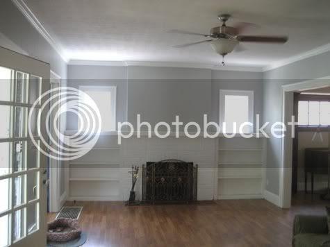 Yellowstone road living room painted Benjamin moore stonington gray living room