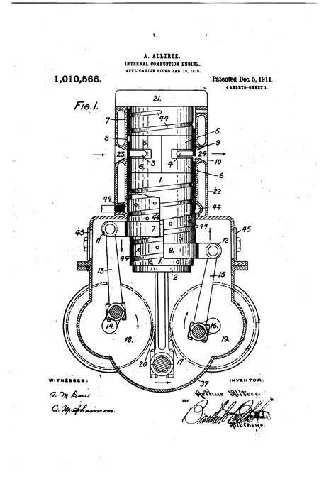 Patent US1010566 - Internal-combustion engine. - Google