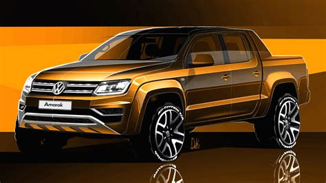 volkswagen amarok sketches revealed  caradvice