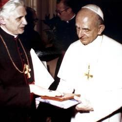 Paolo VI con Joseph Ratzinger