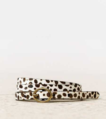 AEO Animal Print Skinny Belt