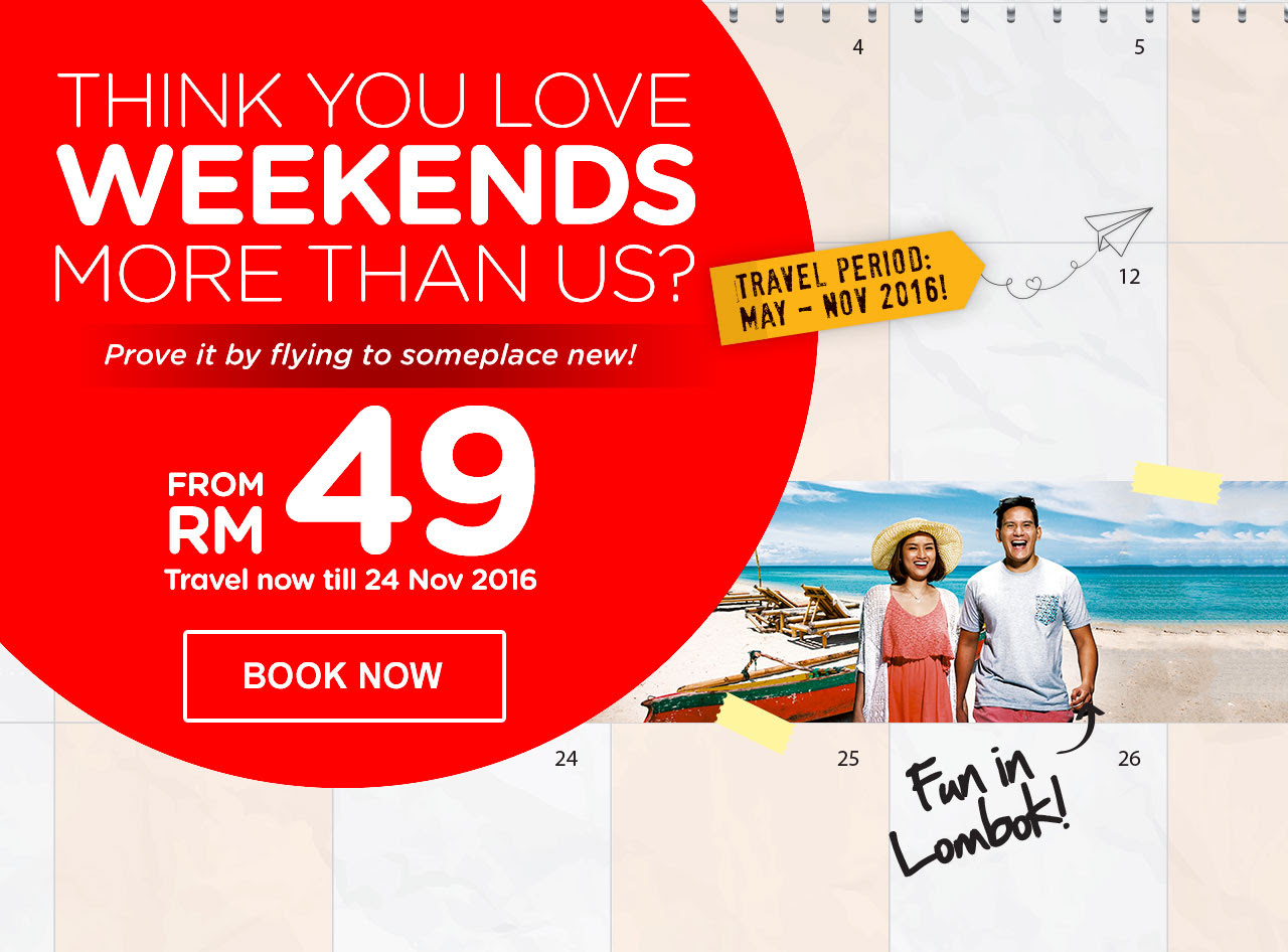 Think you love weekends more than us? Prove it by flying to someplace new!