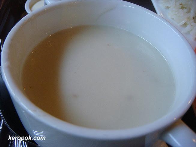 Chicken Chop Set - The mushroom soup