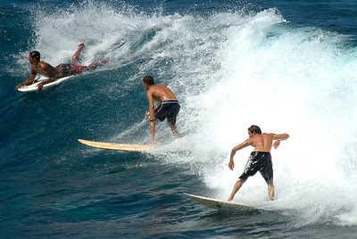 Surfers at Hookipa Beach State Park, Maui, Hawaii