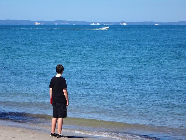 Looking at Moreton Island