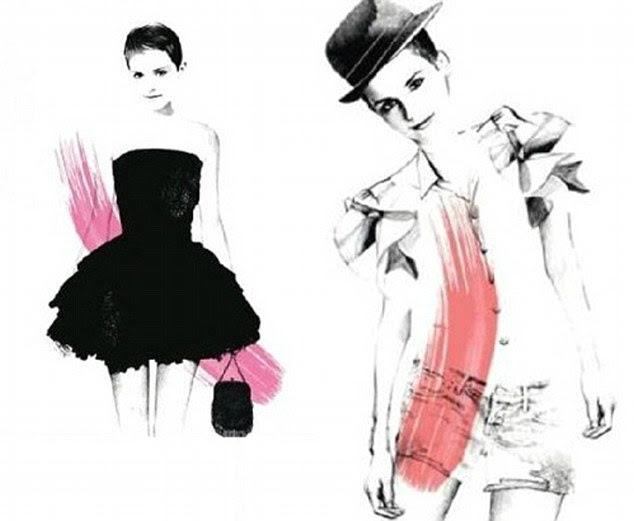 Ad futuro: desenhos que vazaram dão um gosto de coisas fevereiro Ms Watson 2012 Rouge na campanha Amor pela Lancôme