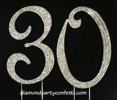 Large Rhinestone Crystal Covered 30 30th Birthday