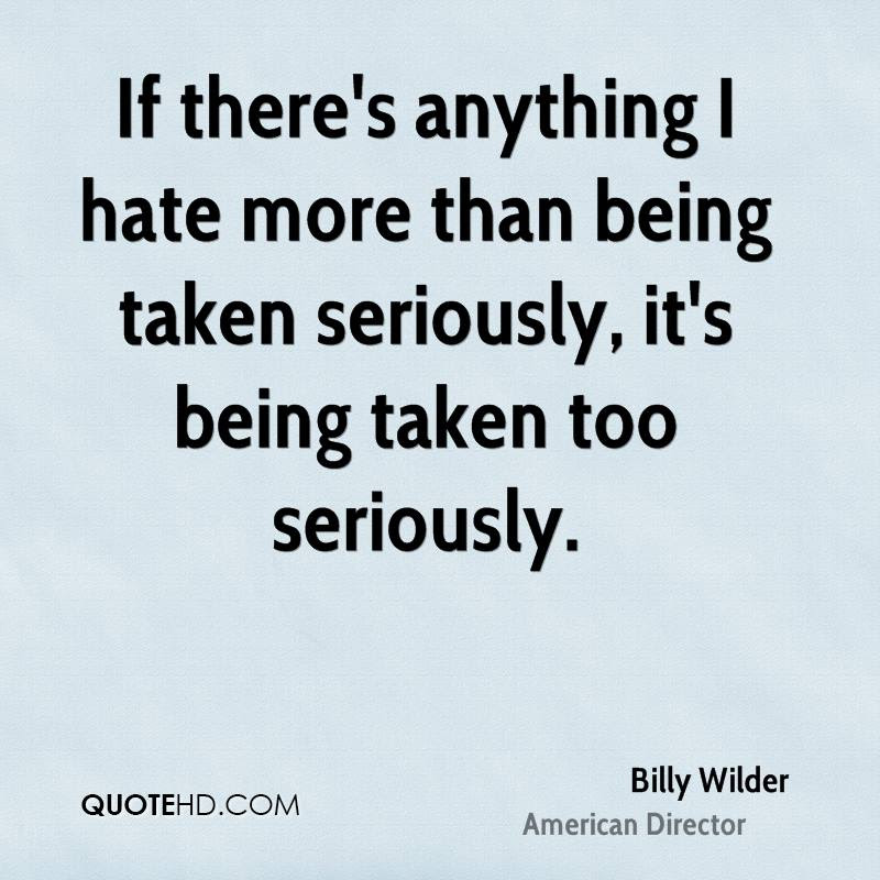 Billy Wilder Quotes Quotehd