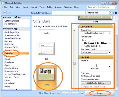 membuat kalender  microsoft publisher