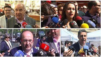 Lluís Rabell, Inés Arrimadas, Miquel Iceta i Xavier García Albiol per Sant Jordi