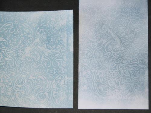 Wax Paper Technique #2 - Faux Embossing Resist 001