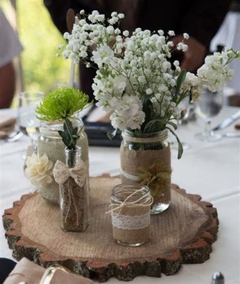 mason jar centerpieces  wedding rustic mason jar
