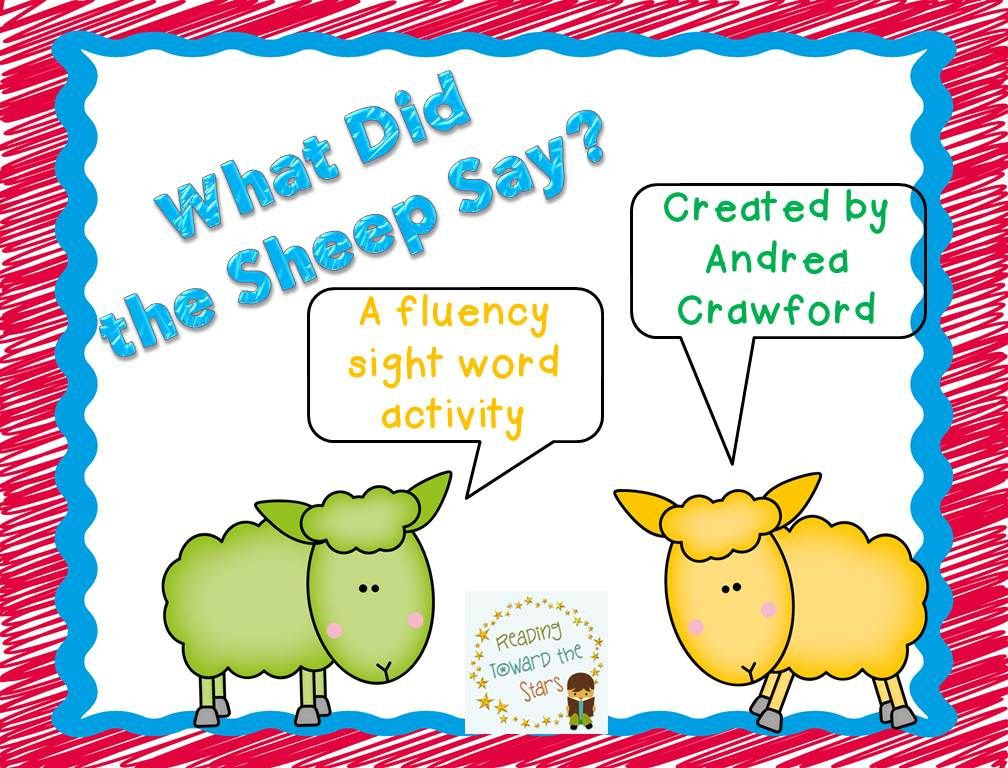 http://www.teacherspayteachers.com/Product/Dolch-Sight-Word-Phrase-Game-PrePrimer-1-What-Did-the-Sheep-Say-1245772