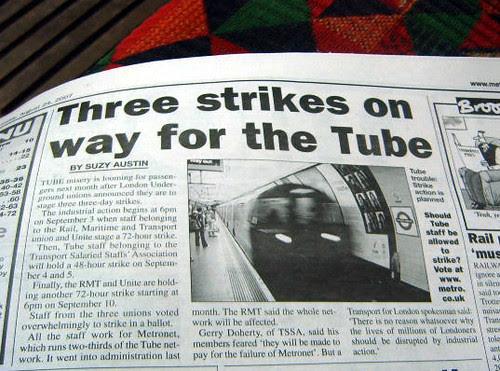 Tube Strikes on the Way