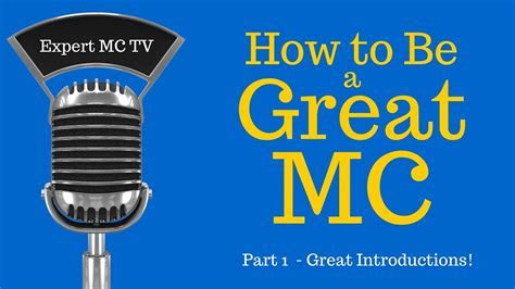 How to be a great MC   Emcee   Master of Ceremonies #1