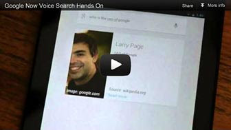 Android new voice search capabilities to web search