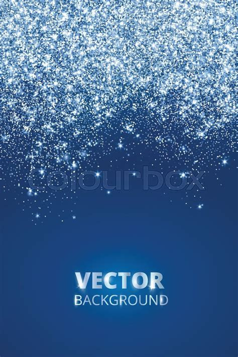 Falling glitter confetti, snow. Vector dust, explosion on