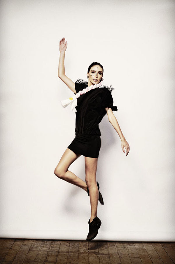 Shine By Three, Fashion Editorial, Jumping Shot, Shoulder Fringing