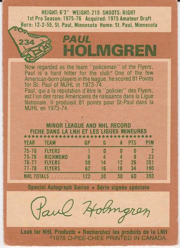 Paul Holmgren - back